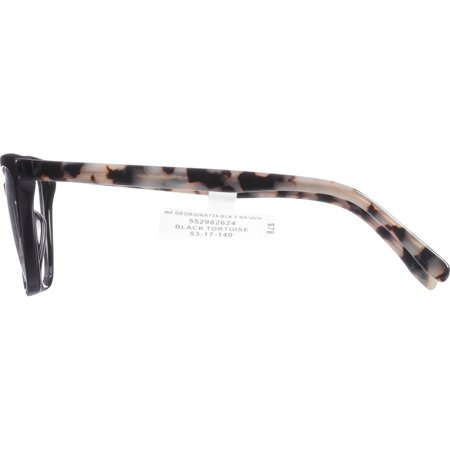 f82c4f00a18d Georgina Eyewear Rx-able Eyeglass Frames 728 Black Tortoise Image 4 of 4
