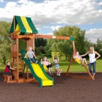 backyard discovery montpelier cedar wooden swing set in australia