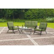 Mainstays Patterson Heights 4-Peice Folding Patio Conversation Set, Seats 4