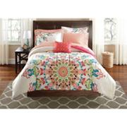 Better Homes and Gardens Beach Day 5 Piece Comforter Set Peach