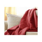 Sunbeam Microplush Electric Heated Throw Blanket Garnet Red 3 Settings